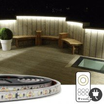1 meter Helder Wit led strip voor buiten complete set