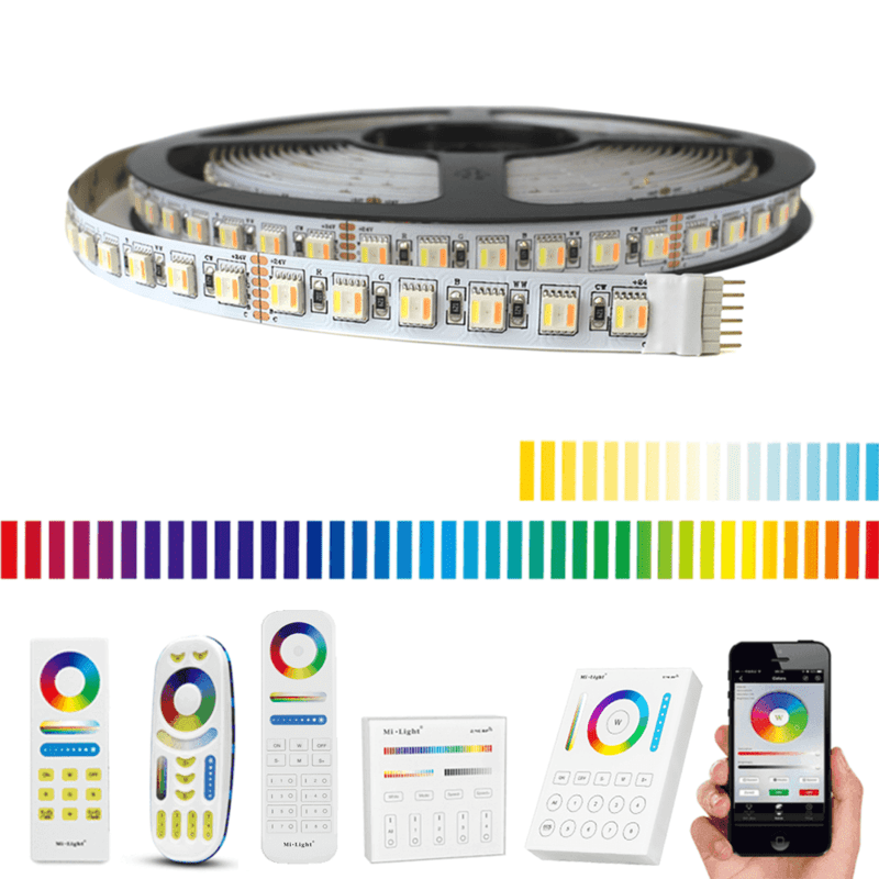 1 meter RGBWW led strip Pro met 96 leds - complete set