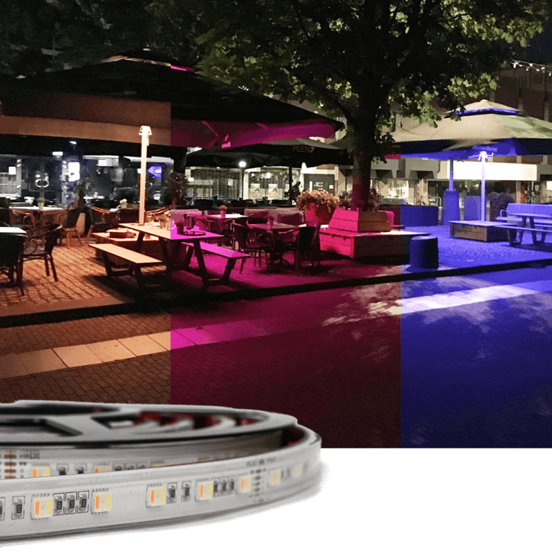 5 meter RGBWW Premium led strip voor buiten losse strip