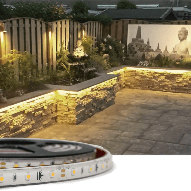 5 meter Warm Wit Basic led strip voor buiten losse strip