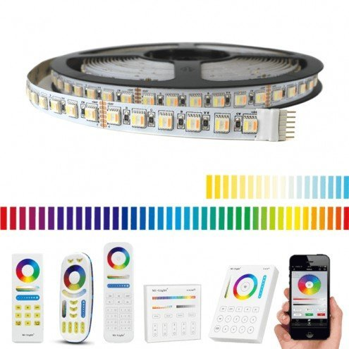 12 meter RGBWW led strip Pro met 1152 leds - complete set
