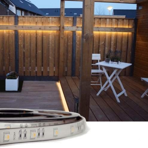 5 meter RGBW Basic led strip voor buiten losse strip