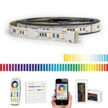 25 meter RGBWW led strip Premium met 1500 leds - complete set