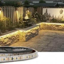 3 meter Warm Witte led strip voor buiten losse strip