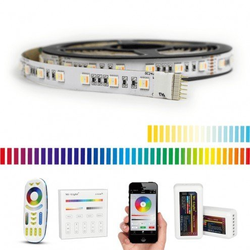 45 meter RGBWW led strip Premium met 2700 leds - complete set