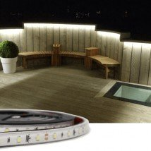 5 meter Helder Wit Basic led strip voor buiten losse strip