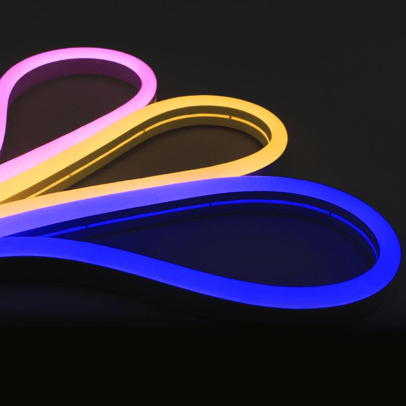 5 meter Neon Led Flex midi rond - losse strip enkele kleur