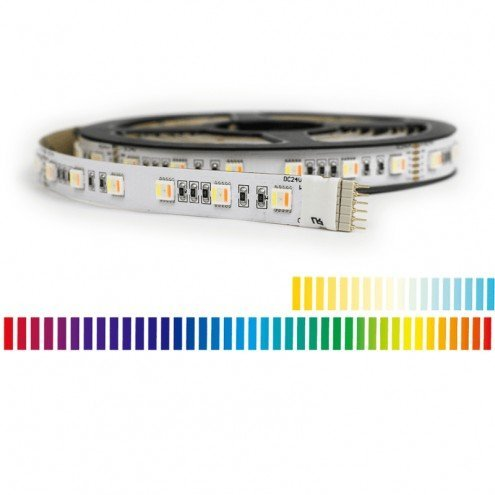 5 meter RGBWW led strip Premium met 300 leds - losse strip