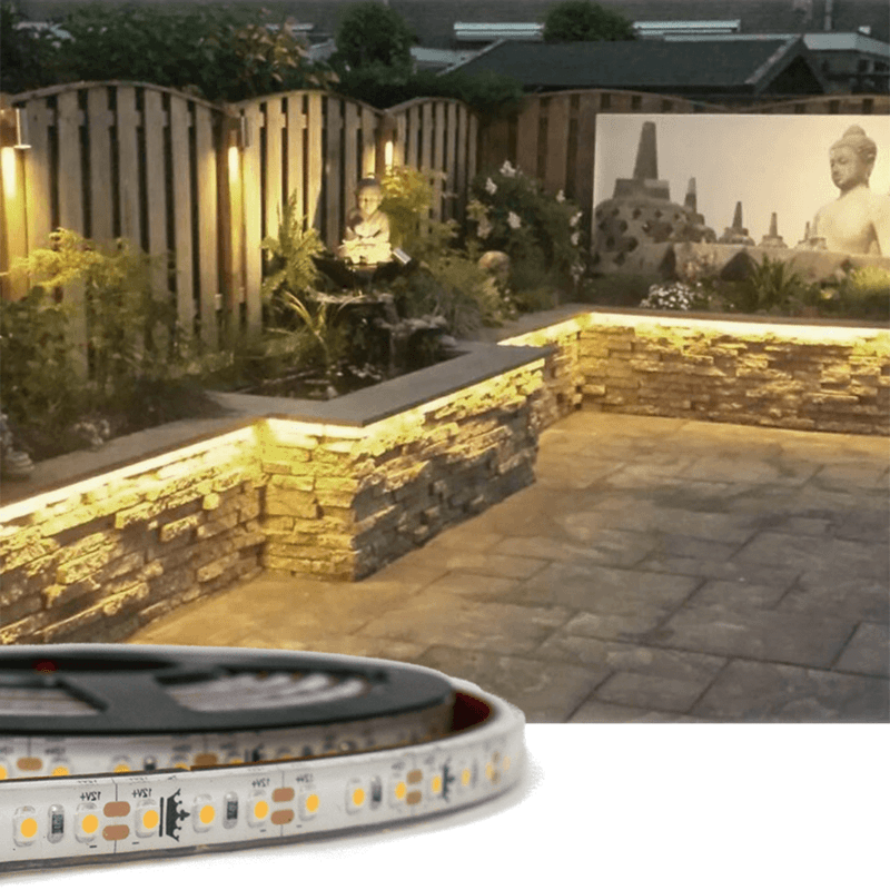5 meter Warm Witte led strip voor buiten losse strip