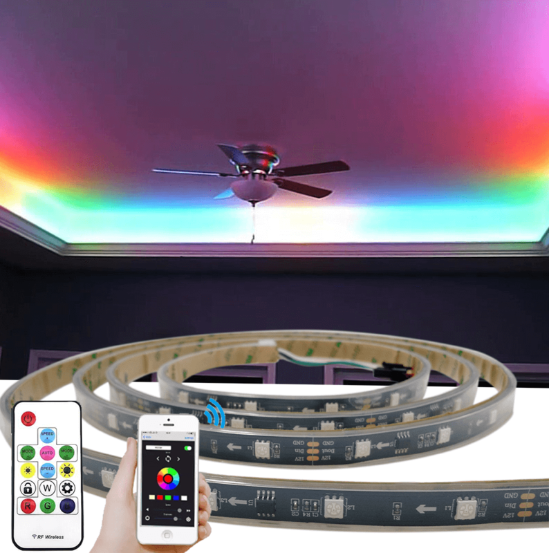 5 meter WS2811 digitale RGB led strip set - Basic