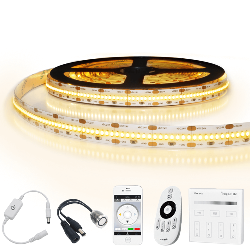 6 meter led strip Warm Wit Pro 420 - complete set