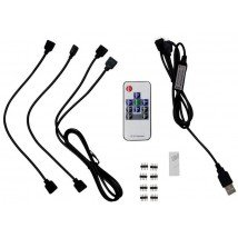 Afstandsbediening en kabel set voor USB led strips