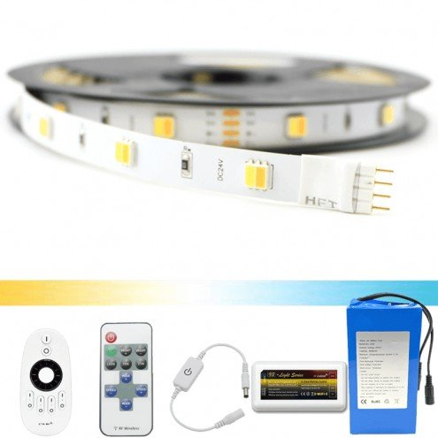 Led strip op batterij Dual White Basic complete set 3 meter