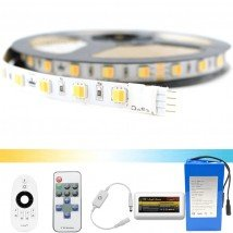 Led strip op batterij Dual White Premium complete set 5 meter