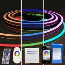 Led strip op batterij Neon RGB Maxi Recht complete set 4 meter