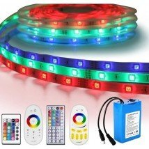 Led strip op batterij RGB Basic complete set 1 meter