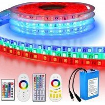 Led strip op batterij RGB Premium complete set 5 meter