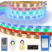 Led strip op batterij RGBW Basic complete set 1 meter