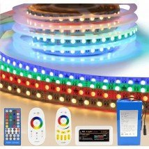 Led strip op batterij RGBW Premium complete set 2 meter