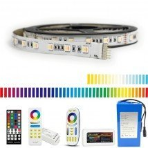 Led strip op batterij RGBWW Premium complete set 4 meter
