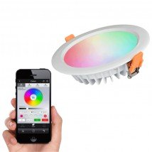 Milight RGBWW led inbouw downlight met Wifi module 15 Watt