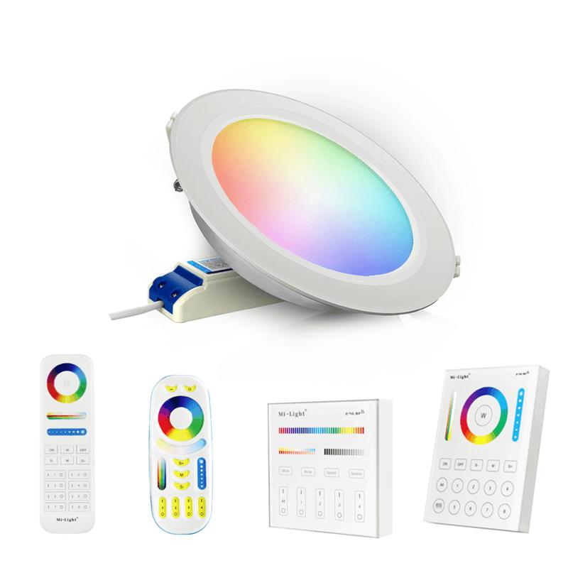 RGBWW complete set met 1-4 LED spots van 12W - inclusief bediening