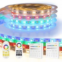 RGBW Basic led strip set met afstandsbediening 1 tot 10 meter