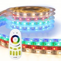 RGBW led strip Basic met afstandsbediening 1 tot 10 meter