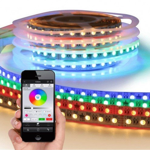 RGBW Premium led strip set met Wifi module 1 tot 10 meter