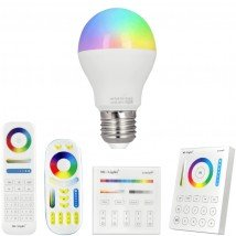 RGBWW Wifi LED lamp set met afstandsbediening 6W E27