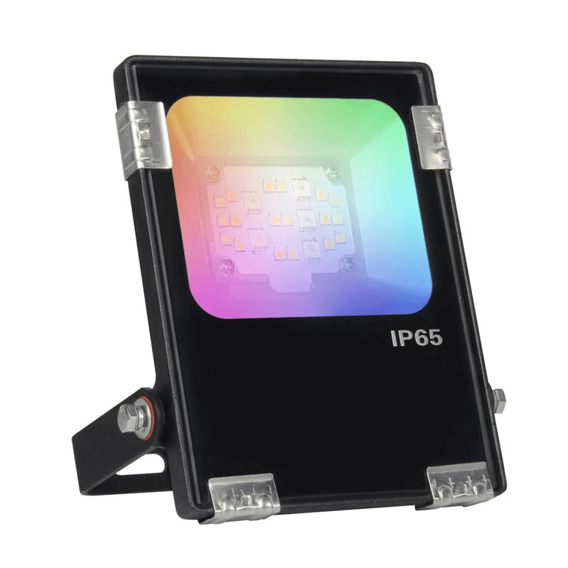 RGBWW Wifi led Schijnwerper/ bouwlamp 10 Watt IP65