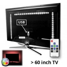 TV led strip set met 3 RGB strips voor TV's > 60 inch