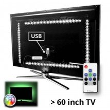 TV led strip set met 4 RGB strips voor TV's > 60 inch