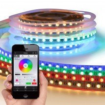 Wifi set met 11 tot 20 meter RGBW led strip Premium