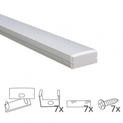 Led strip profiel breed opbouw laag 3 meter