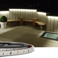 Losse led strip buiten Wit