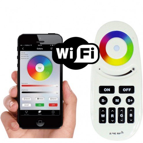 Luxe touch RF afstandsbed. + Wifi RGBW