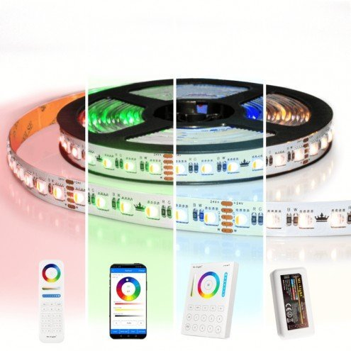 11 meter RGBW led strip complete set - Pro 96 leds per meter - Multicolor met Helder wit