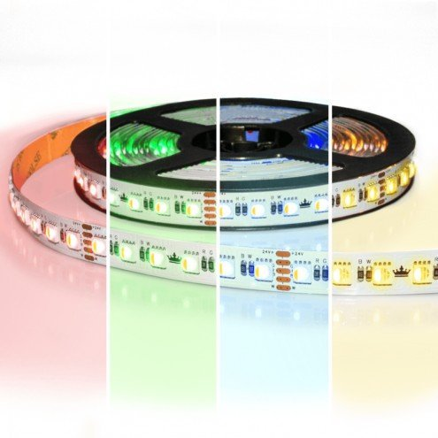 4 meter RGBW led strip Pro met 96 leds - Multicolor met Warm wit - losse strip