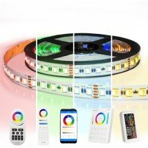 5 meter RGBW led strip complete set - Pro 96 leds per meter - Multicolor met Warm wit