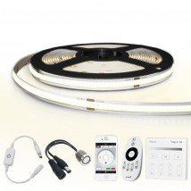10 meter Helder Wit led strip COB met 384 leds per meter - complete set