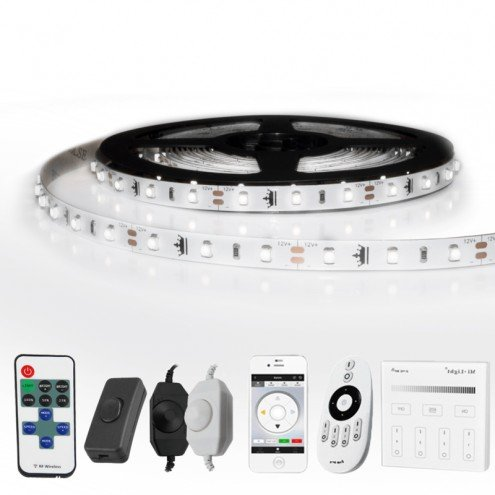 1 METER - 60 LEDS complete led strip set Koud Wit