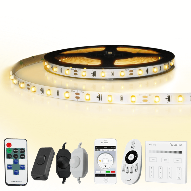 1 METER - 60 LEDS complete led strip set Warm Wit