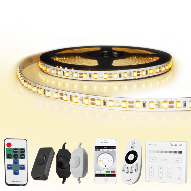 10 METER - 1200 LEDS complete led strip set Warm Wit