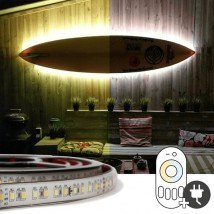 10 meter Dual White led strip voor buiten complete set