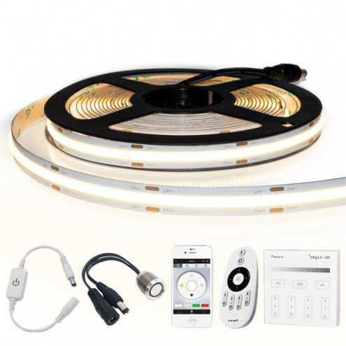 10 meter Helder Wit led strip COB met 504 leds per meter - complete set
