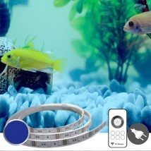 100 t/m 150 cm BLAUW complete set aquarium led strip
