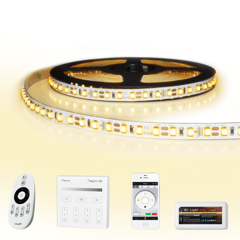 15 meter led strip Warm Wit complete set - Premium 1800 leds