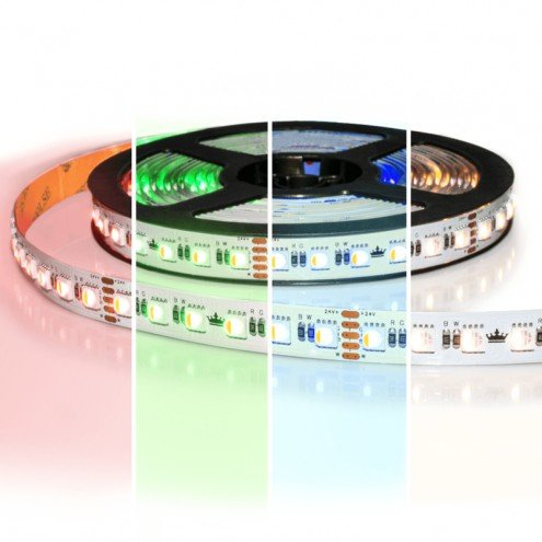 2 meter RGBW led strip Pro met 96 leds per meter - Multicolor en Helder wit - losse strip