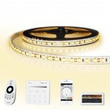 24 meter led strip Warm Wit complete set - Premium 2880 leds